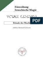Auszug aus Einweihung in die Henochische Magie - Rituale der Macht