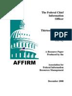 AFFIRM 2008 CIO Survey