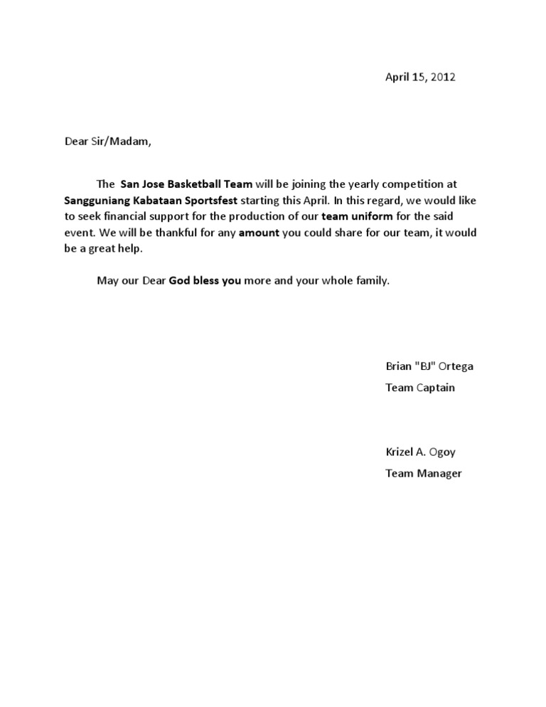 Donor solicitation letter 12 solicitation letter for sponsorship solicitation letter of basketball uniform sample archives new 1530307140v1 expocarfo thecheapjerseys Choice Image