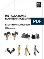 R&M EZ Lift Manual Products Manual