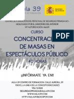 CONCENTRACIÓN DE MASAS EN ESPECTÁCULOS PÚBLICOS