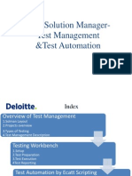 SOLMAN - Test Management