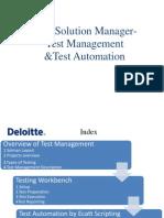SOLMAN - Test Management