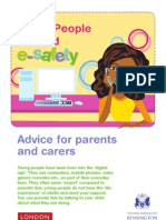 Young People Ict and Esafety - Parental Advice Flyer