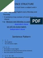 WEEK 4 - Sentence Structure
