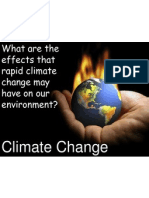 climate change lesson 2- the effects that rapid climate change