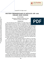 Solution Thermodynamics in Metallic and Ceramic Systems