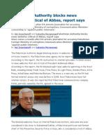 Palestinian Authority Blocks News Websites Critical of Abbas