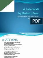 A Late Walk(Robert Frost)