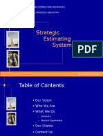 Strategic Cost Estimation
