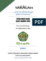 Tafsir Quran Karim Karya Mahmud Yunus PDF