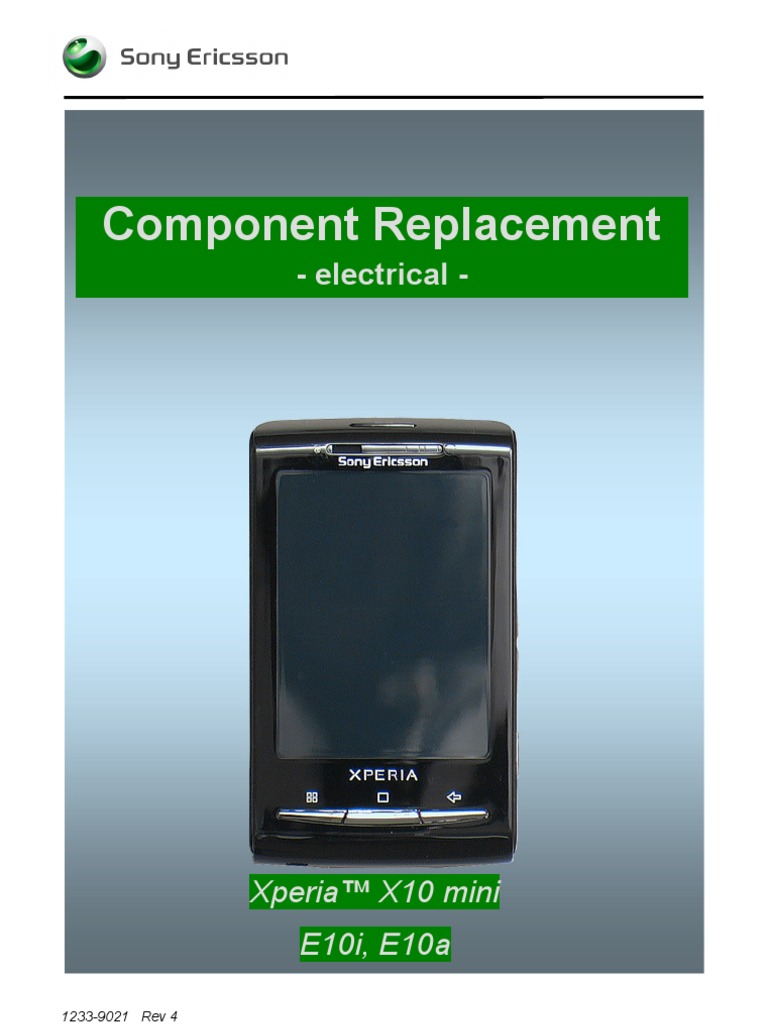 Sony Ericsson E10a E10i Xperia X10 Mini Component Replacement - Electrical  Rev4   Inductor   Electronic Engineering