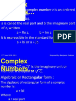 Complex Numbers Rev