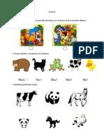 Test de Evaluare - Clasa I - Animalele
