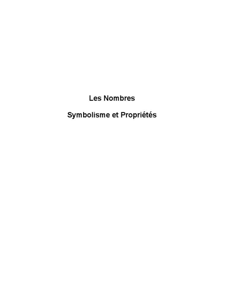 Les nombresmbolisme et proprits fandeluxe Choice Image