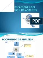 Especificaciones Del Documento de Analisis