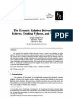 Dynamical Relation Between Return Trading Volume and Volatility