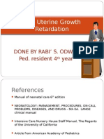 Intra Uterine Growth Retardation