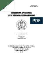 Pendekatan Regulator Is Untuk Perumusan Toeri Akuntansi