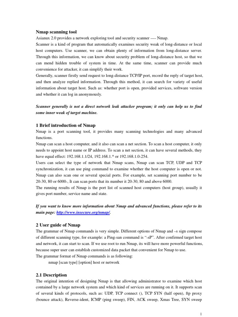 Nmap Scanning Tool | Port (Computer Networking) | Transmission
