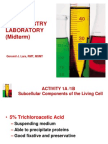 Biochemistry Postlab Midterm