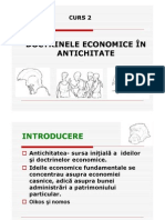 Doctrinele economice în antichitate