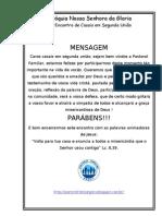 MENSAGEM de PARABÉNS AOS CASAIS EM SEGUNDA UNIÃO - 2012