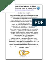 ORAÇÃO DO CASAL - ENCONTRO DE SEGUNDA UNIÃO - 2012