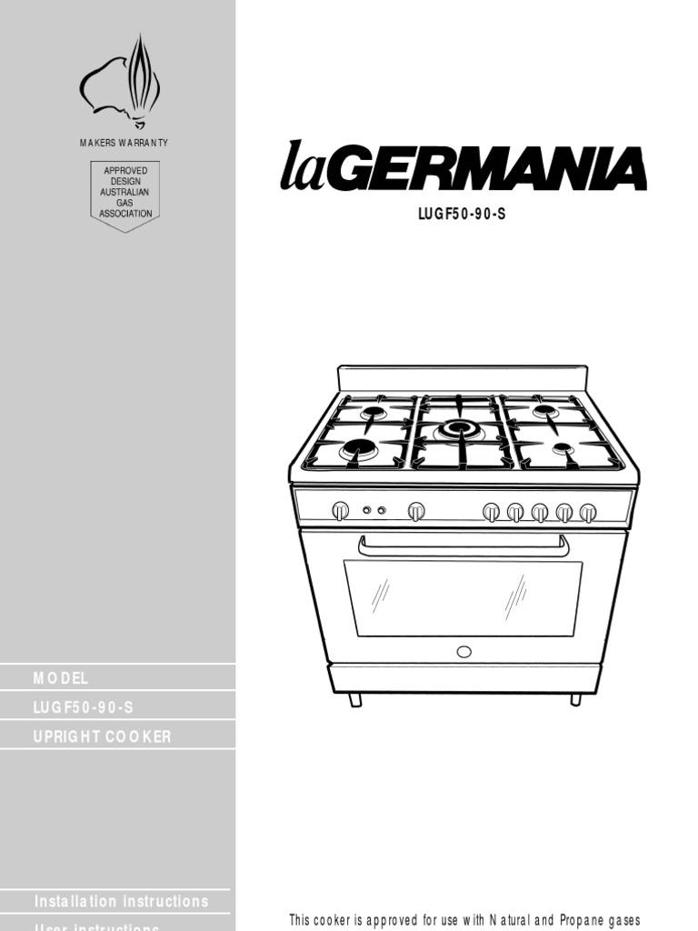 La Germania User Manual | Grilling | Oven