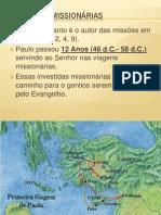 as viagens missionárias em power point