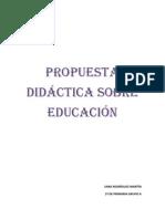 PROPUESTA DIDÁCTICA SOBRE EDUCACIÓN
