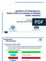 Optimization of Cleaning-In-Place Processes in Bottled Water In