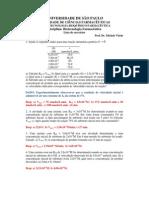 Lista de exercícios sobre os fundamentos da cinética enzimática [1]