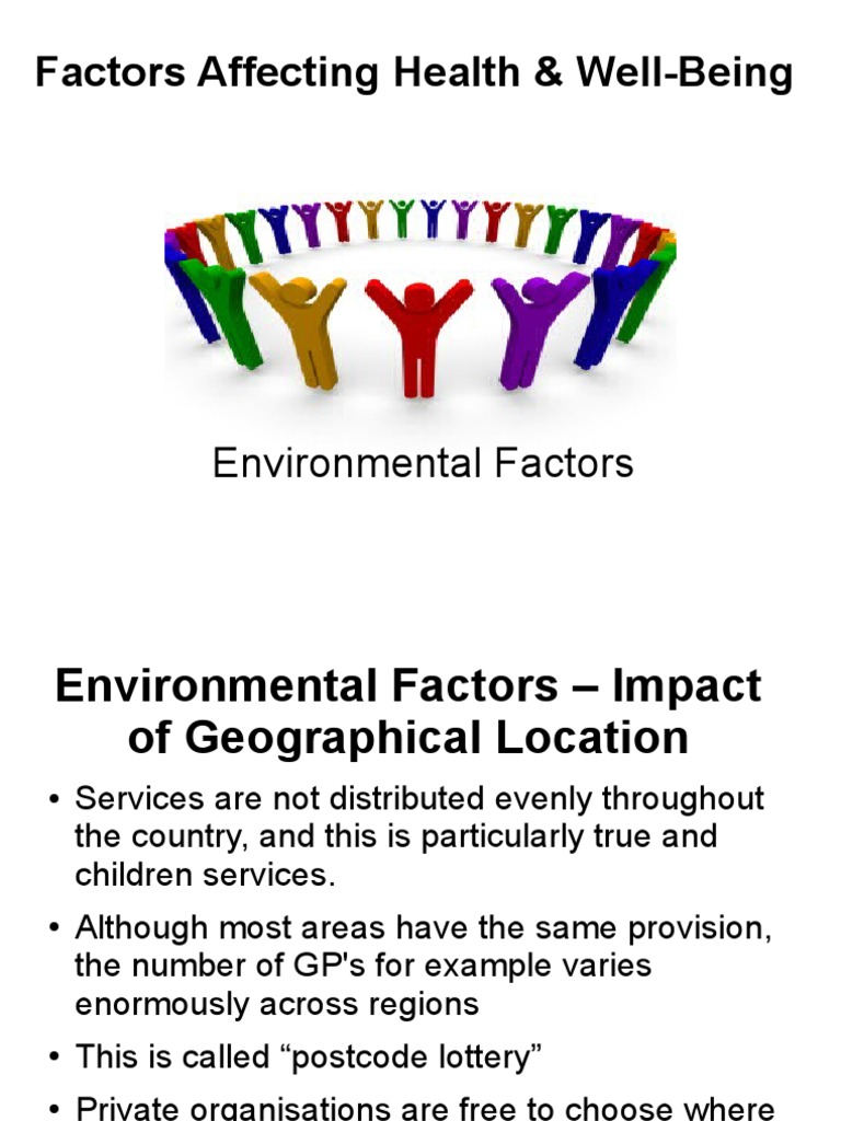 what factors affect health and wellbeing