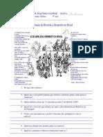 avaliação de história e geografia