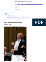 Chicago Classical Review » Blog Archive » Denève strikes sparks in CSO debut