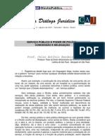 Serviço Publico e Poder de Policia Concessão Delegação CELSO ANTONIO BANDEIRA MELLO