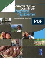 Herramientas para construir un buen programa de gobierno. Guia para aspirantes de alcaldías y gobernaciones PNUD
