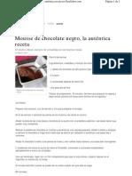 Mousse Chocolate Negro Autentica