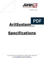 ArilSystem Specifications 2010