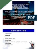 Evaluacion y Diseno Sistema Gestion Mantenimiento Basada Normas Covenin 2500 93