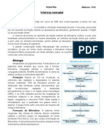 Icterícia neonatal - Resumo Pediatria Medicina