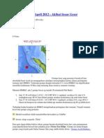 Gempa Aceh 11 April 2012