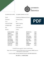 Exam COMP1306 December 2011