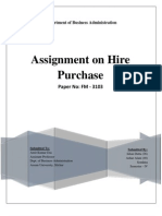 Hire Purchase Word