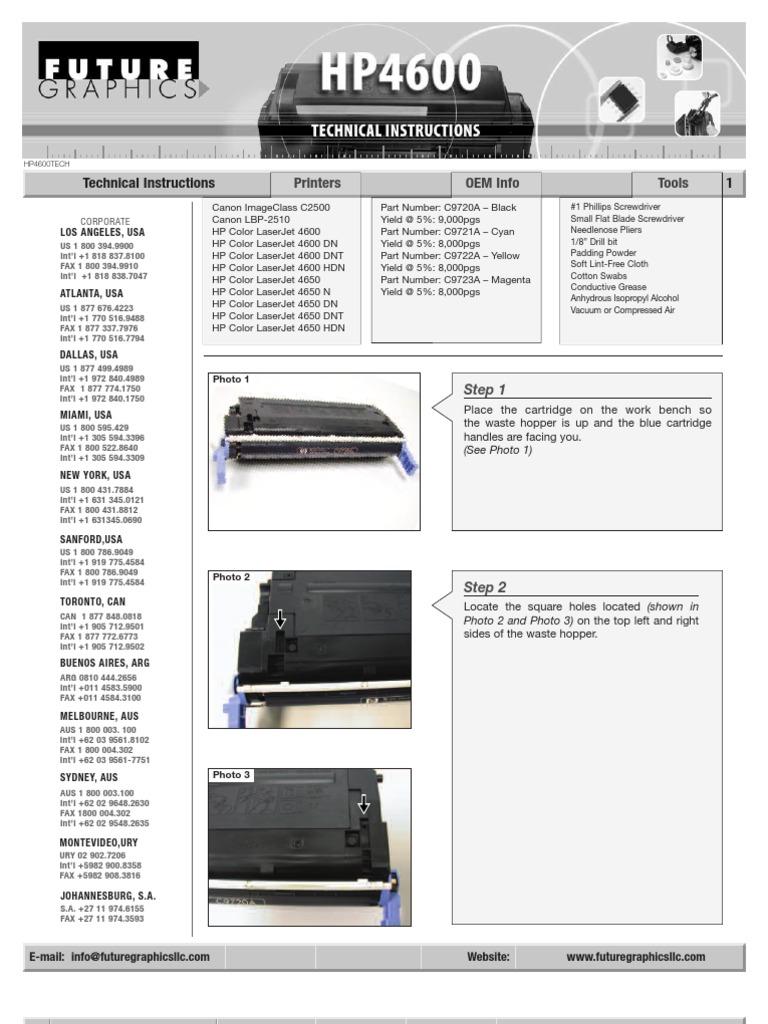 Hp4600 Toner Dis Assembly Printer Computing Office Equipment Hp Clj 4600 4650 Yellow Print Cartridge C9722a