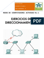 Taller 1 Direccionamiento IP