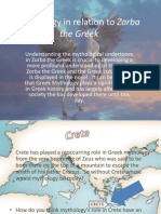 Mythology in Relation to Zorba the Greek