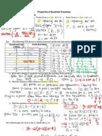 3.1 Properties of Quadratic Functions-Notes