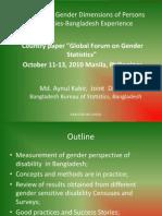 Measurement of Gender Dimensions
